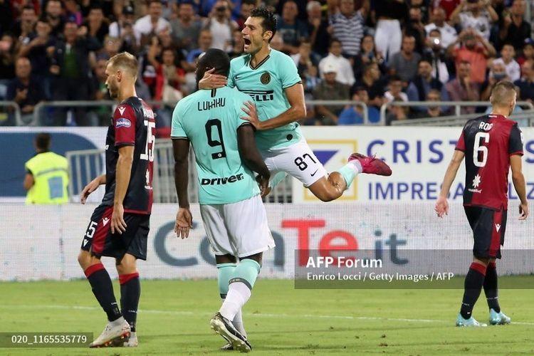 Striker Inter Milan mendapat ejekan berbau rasial setelah mencetak gol kemenangan saat melawan cagliari, Minggu (1/2/2019) waktu setempat.