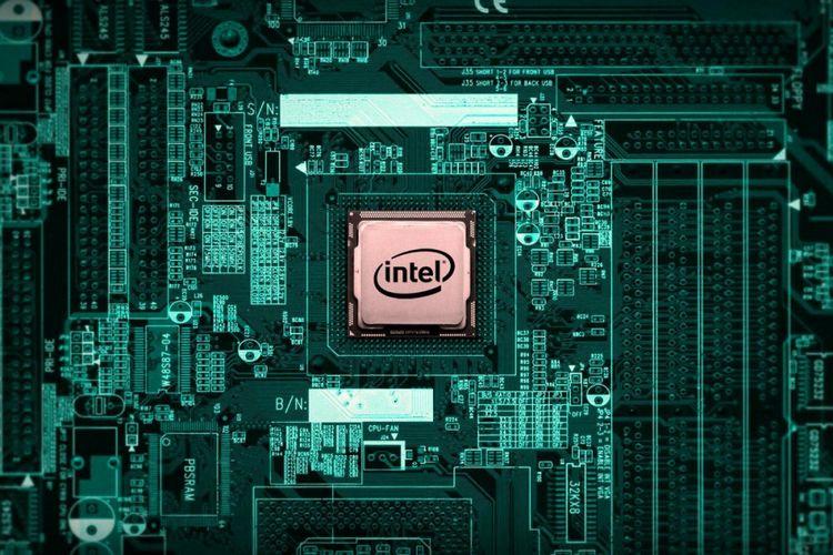 Ilustrasi prosesor PC Intel
