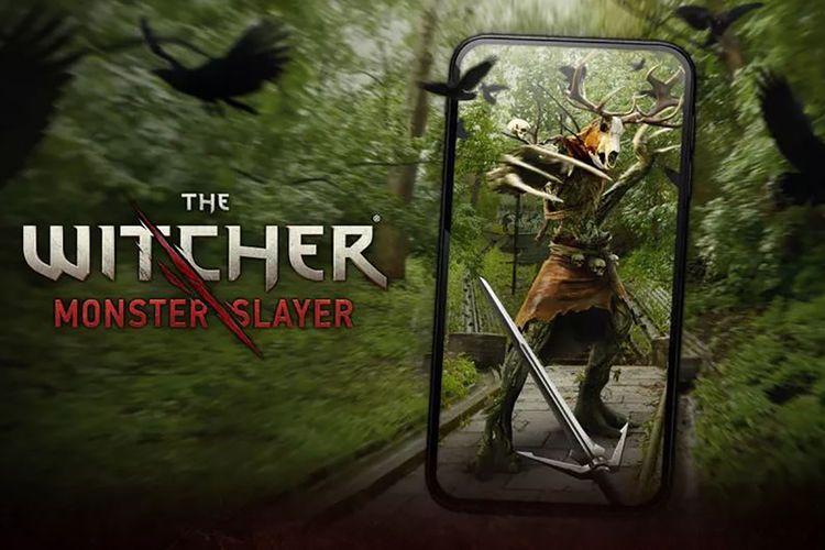 Ilustrasi game The Witcher: Monster Slayer dari Spokko
