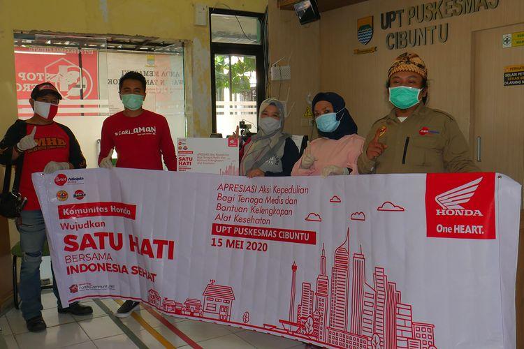 Komunitas motor Honda di Jawa Barat ikut berdonasi di tengah pandemi