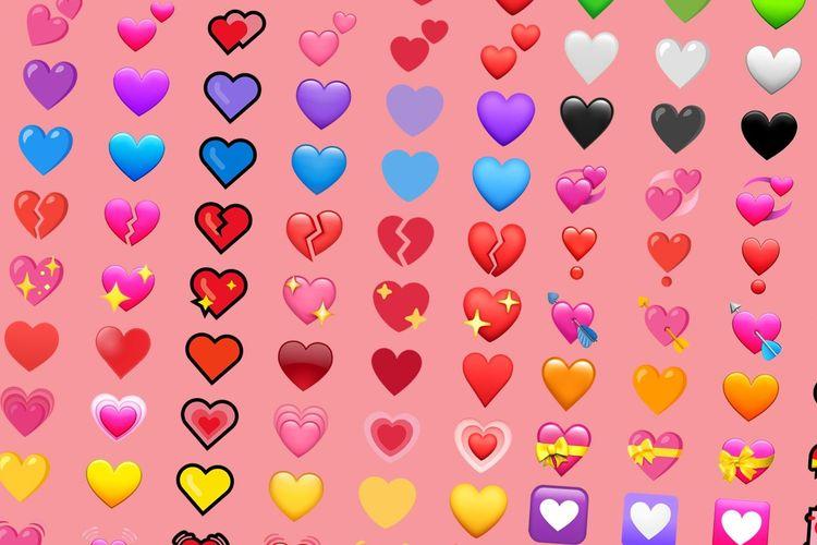Ilustrasi emoji hati.
