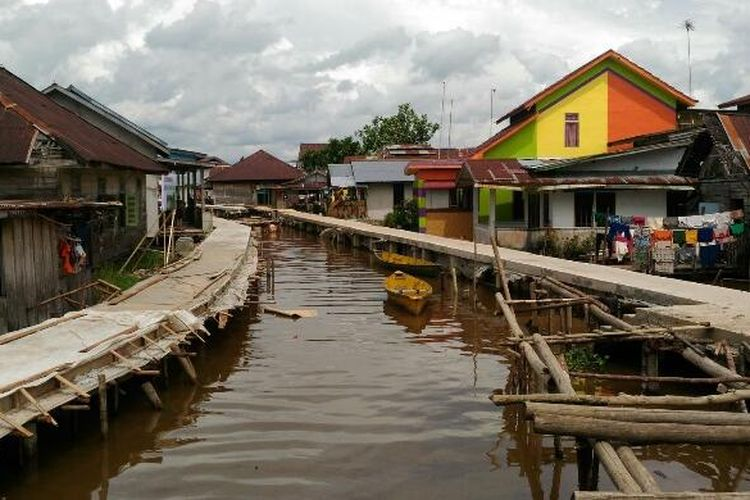 Salah satu sudut Kampung Beting yang tengah ditata oleh Kementerian PUPR dan Pemkot Pontianak. Foto diambil Selasa (20/12/2016).
