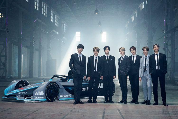 BTS didaulat sebagai ambassador global untuk kejuaraan balap Formule E yang digelar di Korea pada tahun depan.
