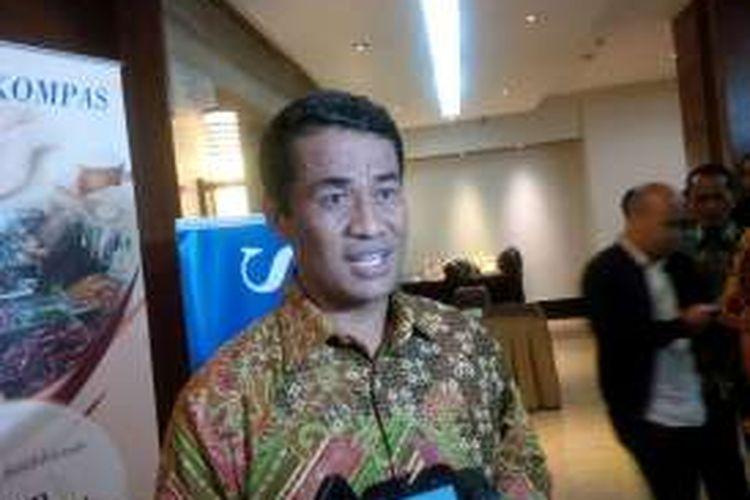 Mentan Amran Sulaiman saat mengahadiri Diskusi Kesiapan Bahan Pokok Menjelang Hari Raya, di Hotel Santika, Jakarta, (2/6/2016)