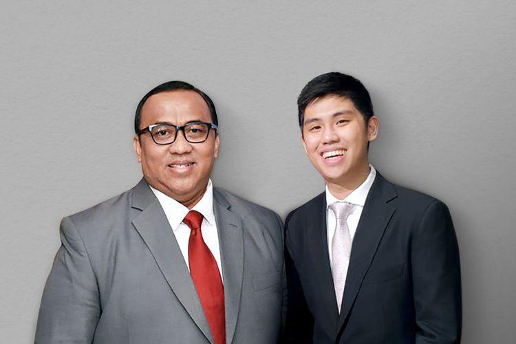 Komisaris Utama Startup Ajaib Andi Gani bersama CEO Ajaib Group Anderson Sumarli.