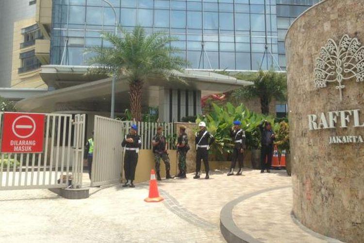 Hotel Raffles tempat rombongan Raja Salman menginap.