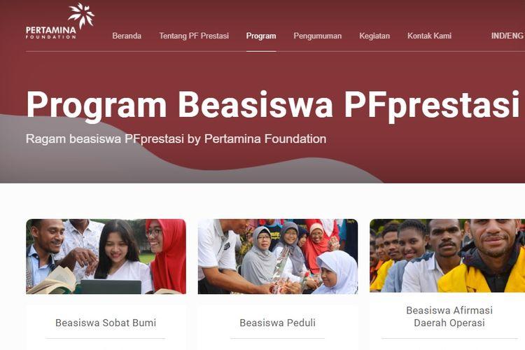 Program Beasiswa Pertamina Foundation
