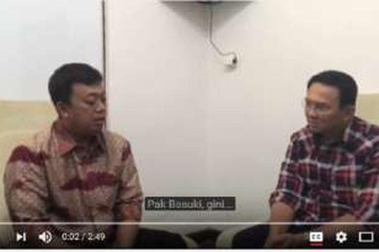 Nusron Wahid dan Basuki Tjahaja Purnama atau Ahok dalam sebuah video yang beredar di media sosial.