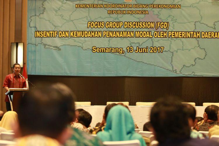 Nilai investasi Kota Semarang melonjak tajam dalam beberapa tahun terakhir. Wali Kota Semarang Hendrar Prihadi memaparkan empat hal pemicu meningkatnya investasi di Kota Semarang di Hotel Crowne Semarang, Selasa (13/6)