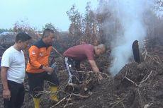 Lahan Gambut di OKI Masih Terbakar meski Diguyur Hujan 1,5 Jam
