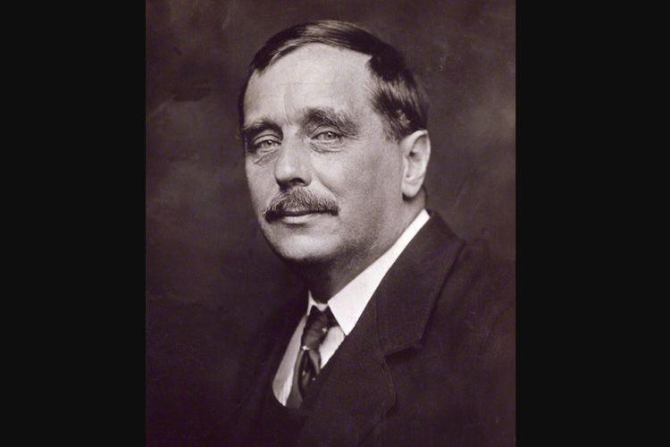 Herbert George Wells atau yang lebih dikenal dengan HG Wells, seorang novelis asal Inggris. Foto diambil pada 1920.