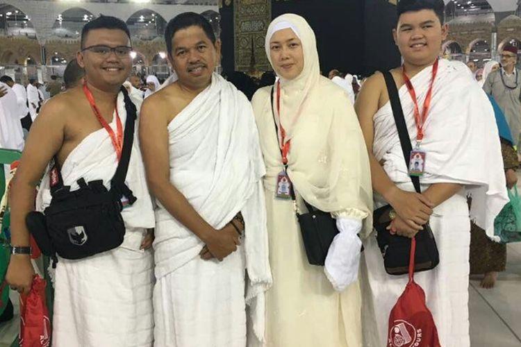 Bupati Purwakarta Dedi Mulyadi beserta rombongan sudah tiba di Tanah Suci Mekah, Selasa (16/5/2017) dini hari.