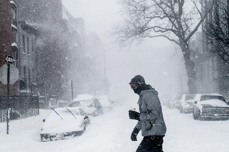 ilustrasi badai salju.