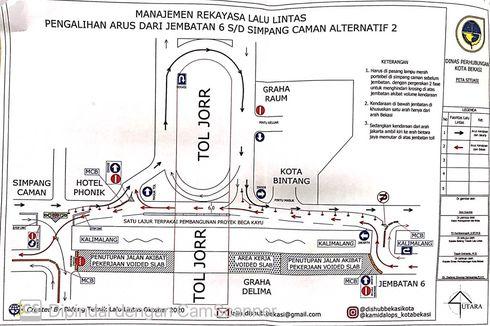 Ada Pelebaran Jembatan Cakung, Arus Lalin di Jalan KH Noe Ali Dialihkan