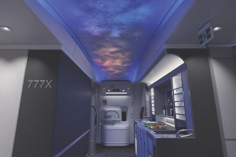 Interior di Boeing 777X.