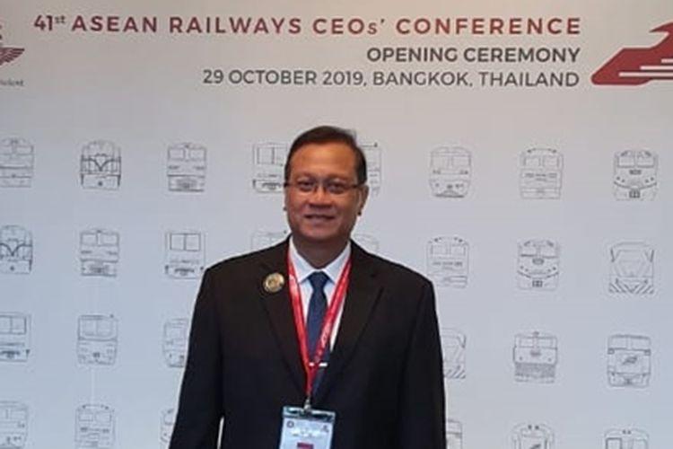 Direktur Utama PT KAI Edi Sukmoro saat menghadiri ASEAN Railways CEOs Conference ke 41 di Bangkok, Thailand, Selasa (29/10/2019)