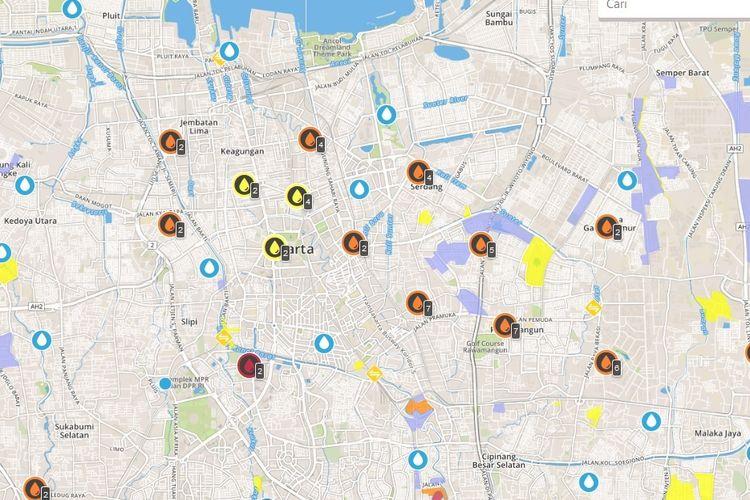 Pengguna internet bisa memantau kondisi banjir di Jakarta dan sekitarnya lewat Petabencana.id
