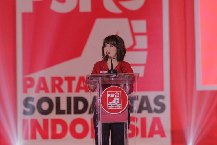 Ketua Umum PSI Grace Natalie di Festival 11 Yogyakarta yang bertempat di Grha Pradipta Jogja Expo Center pada Senin (11/2/2019). Acara dihadiri oleh sekitar 2.000 peserta yang terdiri dari pengurus, kader, dan simpatisan PSI.