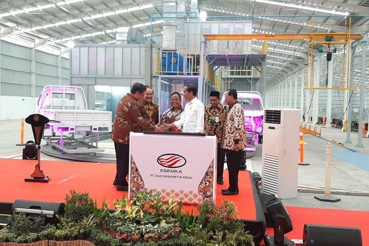 Pabrik ESEMKA diresmikan Presiden Joko Widodo, Jumat (6/9/2019)