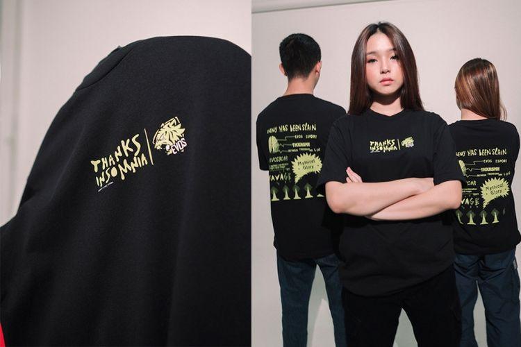 EVOS Esports sebagai salah satu tim terbesar dan tersukses di industri esports Indonesia mengumumkan kolaborasinya dengan brand streetwear Thanksinsomnia® dalam meluncurkan produk fashion edisi summer bertemakan esports.