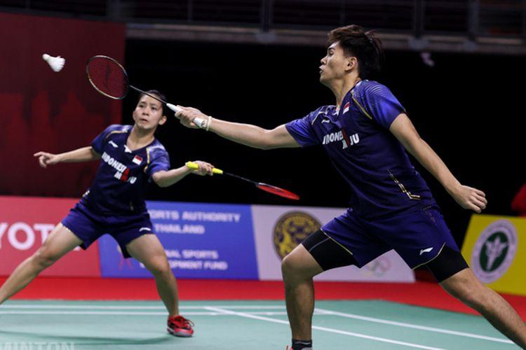 Adnan Maulana/Mychelle Crhystine Bandaso (Indonesia) vs Chan Peng Soon/Goh Liu Ying (Malaysia) di  Toyota Thailand Open 2021.