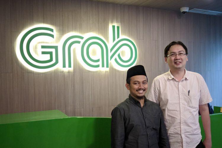 Head of Data Grab, Ainun Najib (kiri), dan Warehouse Engineer Grab, Andreas Hadimulyono, di kantor Grab di Jakarta, Kamis (22/3/2018).