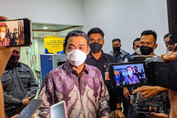 Wakil Gubernur DKI Jakarta Ahmad Riza Patria saat ditemui di Balai Kota DKI Jakarta, Jumat (8/10/2021)