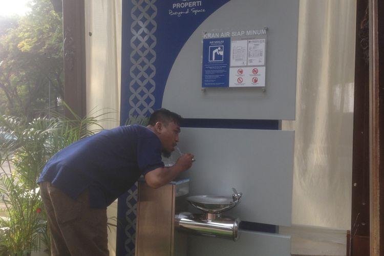 Keran air minum di Taman Indonesia Kaya Semarang, Rabu (20/2/2018)