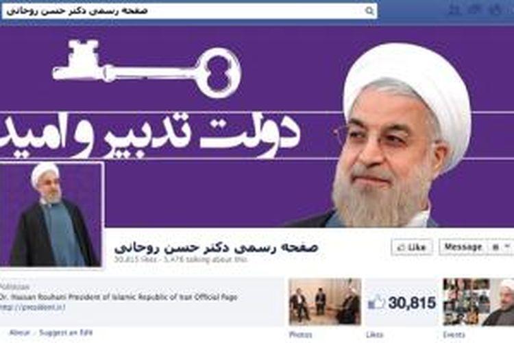 Halaman Facebook pribadi Presiden Iran