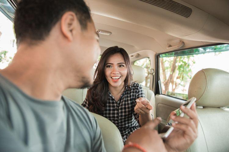 Ilustrasi aman menggunakan taksi online
