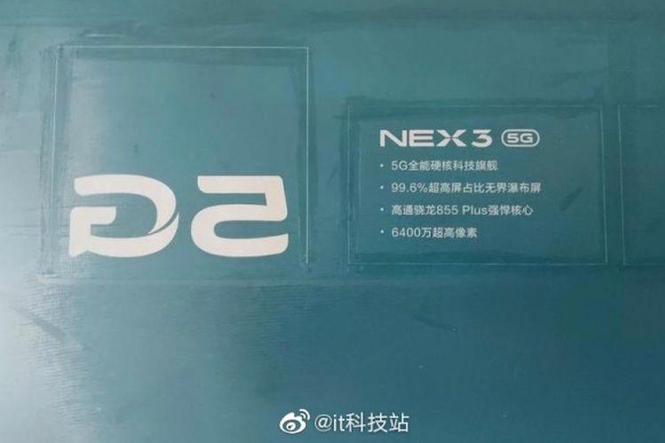 Bocoran spesifikasi Vivo Nex 3