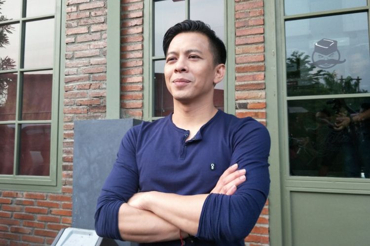 Ariel NOAH saat ditemui di sela shooting video klip lagu Janger Persahabatan di Studio Toha, Tangerang, Banten, Rabu (2/5/2018) sore.