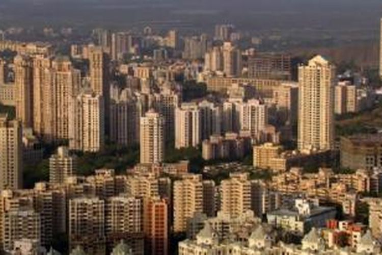 Kaki langit Mumbai, India.