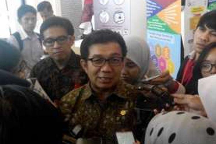 Ketua Dewan Komisioner OJK Muliaman D Hadad pada acara Indonesia Fintech Festival & Conference, Senin (29/8/2016).