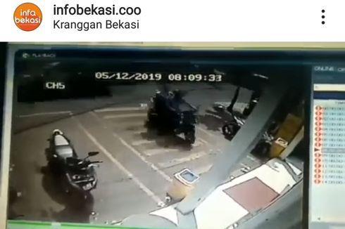 Maling Curi Motor Kurang dari 15 Detik di Minimarket, Begini Aksinya Terekam CCTV
