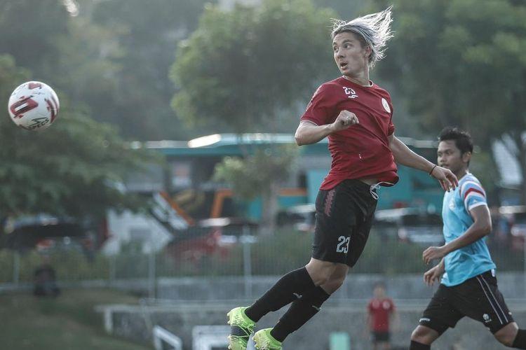 PS Sleman berhasil menekuk klub Liga 2 Sulut United 2-0 dalam laga uji tanding di Lapangan Sepakbola UII, Sleman, Yogyakarta (29/6/2021) sore.