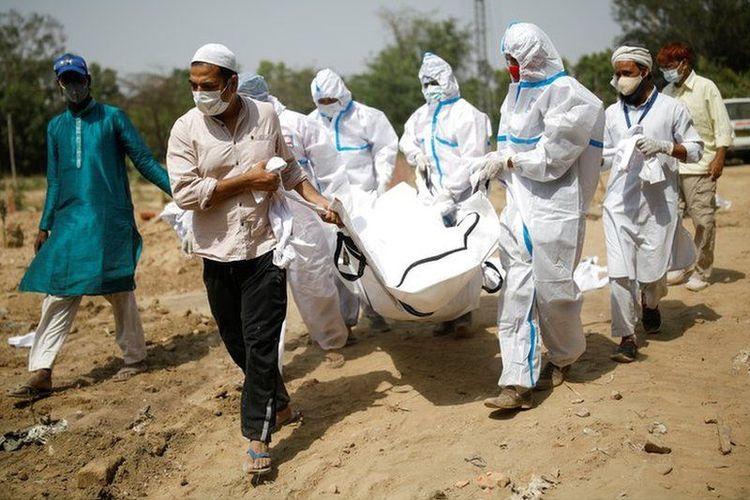 India mencatat jumlah kasus virus corona baru tertinggi di dunia.