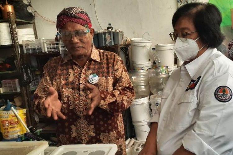 Kunjungan Menteri LHK Siti Nurbaya di Kampung Berseri Astra (KBA) Proklim RW 01 Sunter Jaya yang merupakan binaan dari PT Astra Honda Motor (AHM).
