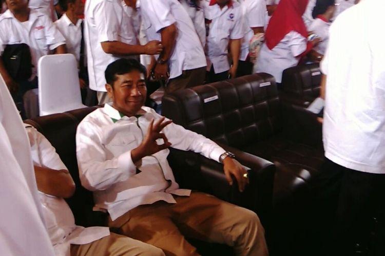 Politisi PPP Abraham Lulung Lunggana di acara deklarasi Partai Perindo kepada Anies-Sandi di Kelapa Gading, Jakarta Utara. Selasa (14/3/2017)