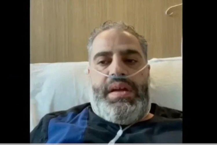 Khalid Elmasri (47 tahun) dirawat di rumah sakit St George dan menyampaikan pesan kepada komunitas berbahasa Arab mengenai seriusnya Covid-19.