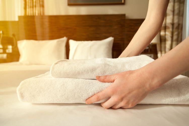 ilustrasi handuk mandi