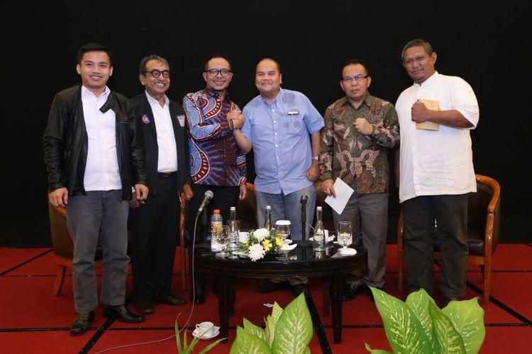 Dialog Sosial Serikat Pekerja/Serikat Buruh di Bekasi, Jumat (29/3/2019).