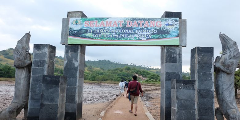 Taman Nasional Komodo di Pulau Rinca, Kabupaten Manggarai Barat, Nusa Tenggara Timur.
