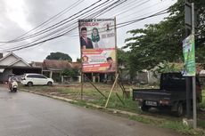 Masa Tenang Pilkada 2020, Alat Peraga Kampanye Masih Terpasang di Beberapa Titik di Depok