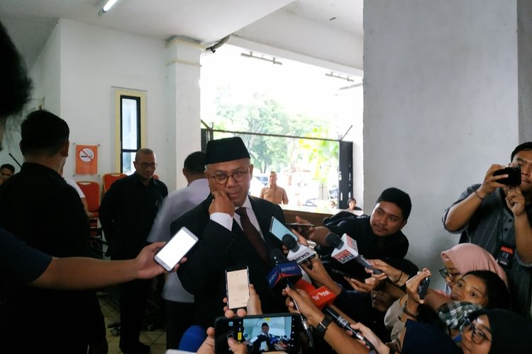 Ketua KPU, Arief Budiman, di Kantor KPU, Menteng, Jakarta Pusat, Kamis (9/1/2020).