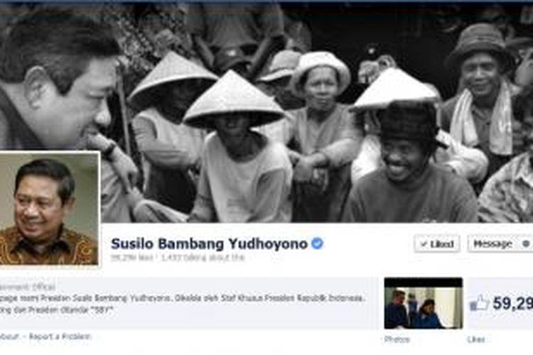 Laman Fan Page Presiden Susilo Bambang Yudhoyono di Facebook.