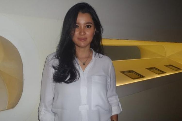 Marcella Zalianty dijumpai sesudah ambil bagian dalam konferensi pers di Galeri Indonesia Kaya, Grand Indonesia, Jakarta Pusat, Rabu (18/1/2017) sore, mengenai pertunjukan puisi teaterikal Istana Manusia.