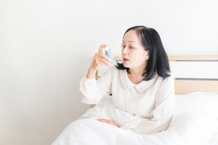 Ilustrasi pasien penderita penyakit paru.
