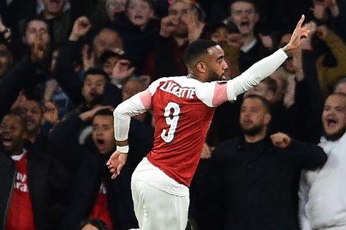 Arsenal Vs Valencia, Gol Lacazette dan Aubameyang Menangkan Tuan Rumah