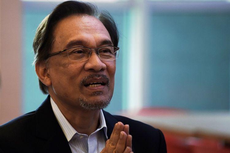 Pemimpin de facto oposisi Malaysia, Anwar Ibrahim.